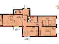 3-комнатная квартира, 92.38 м², 9/9 этаж