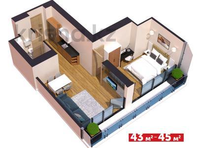 3-комнатная квартира, 43 м², 18/45 этаж, Химшиашвили 7 за ~ 22.3 млн 〒 в Батуми