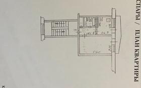 1-комнатная квартира, 34 м², 2/5 этаж, 11 мкр 25 за 6.8 млн 〒 в Актобе, мкр 11