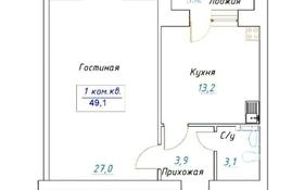 1-комнатная квартира, 48.8 м², Мкр.батыс-2 за ~ 5.4 млн 〒 в Актобе, мкр. Батыс-2