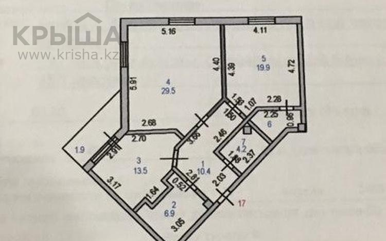 2-комнатная квартира, 90.2 м², 7/10 этаж, Туран 19к1 за 38 млн 〒 в Нур-Султане (Астана), Есильский р-н
