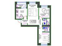 3-комнатная квартира, 79 м², 5/8 этаж