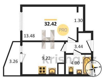 1-комнатная квартира, 33 м², 2/12 этаж, Мурино 1 за ~ 14.9 млн 〒 в Санкт-петербурге — фото 2