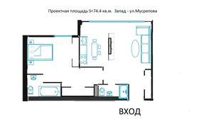 2-комнатная квартира, 74.4 м², 6/16 этаж, мкр Коктем-3, Мусрепова 22 за ~ 29 млн 〒 в Алматы, Бостандыкский р-н