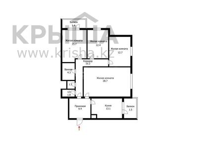 4-комнатная квартира, 118 м², 6/9 эт., Микрорайон Самал — проспект Республики за 45 млн ₸ в Нур-Султане (Астана), Сарыаркинский р-н — фото 2