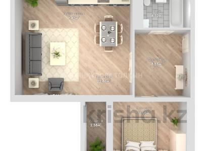 2-комнатная квартира, 55.77 м², проспект Улы Дала 42 — 38 я за ~ 16.6 млн 〒 в Нур-Султане (Астана), Есиль р-н