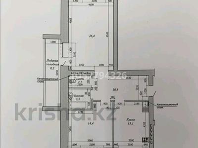 2-комнатная квартира, 80 м², 2/9 этаж, А.Молдагуловой 66 — Мәңгілік ел за 14.6 млн 〒 в Актобе, мкр. Батыс-2 — фото 2
