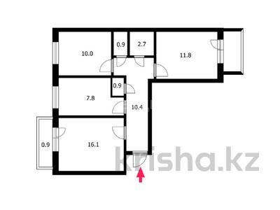 3-комнатная квартира, 62.8 м², 5/6 этаж, улица Куйши Дина 44А — проспект Абылай Хана за 22.5 млн 〒 в Нур-Султане (Астана), Алматы р-н — фото 10