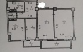 3-комнатная квартира, 80.8 м², 7/14 этаж, проспект Женис — А. Жангельдина за 26.5 млн 〒 в Нур-Султане (Астана), Сарыаркинский р-н