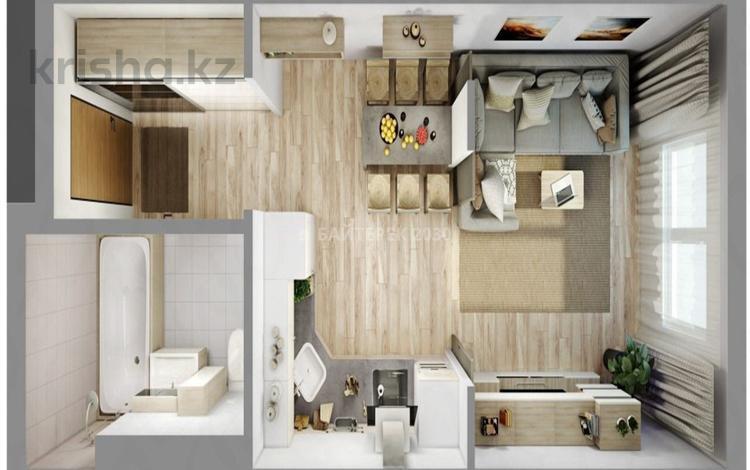 1-комнатная квартира, 26.4 м², 2/3 эт., Кургальжинское шоссе — Исатай батыр за ~ 3.8 млн ₸ в Нур-Султане (Астана), Есильский р-н