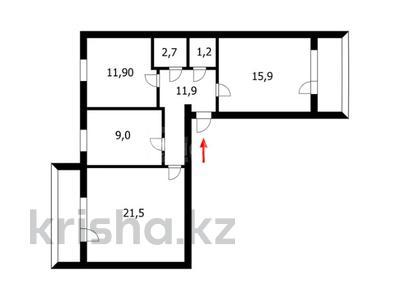 3-комнатная квартира, 72 м², 1/6 этаж, Мусрепова 9 за 19.4 млн 〒 в Нур-Султане (Астана), Алматы р-н — фото 16