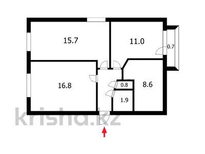 3-комнатная квартира, 59 м², 4/5 этаж, Илияса Есенберлина 2А за 16 млн 〒 в Нур-Султане (Астана) — фото 16