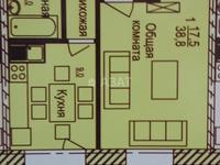1-комнатная квартира, 38.8 м², 7/7 этаж