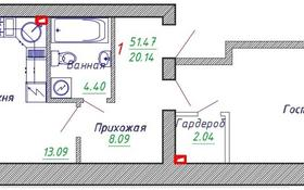 1-комнатная квартира, 52 м², 1/6 этаж помесячно, Алихана Бокейхана 29 — Турара Рыскулова за 100 000 〒 в Нур-Султане (Астана), Есиль р-н
