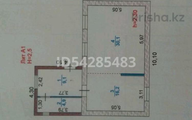1-комнатный дом, 63 м², 9 сот., ул. С.Асфендияров 14 за 13 млн 〒 в Атырау