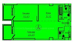 2-комнатная квартира, 53.4 м², 10/13 этаж, Кургальжинское шоссе 3/1 — Е435 за ~ 13.9 млн 〒 в Нур-Султане (Астана)