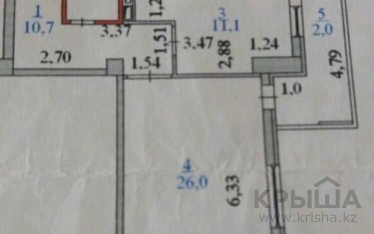 1-комнатная квартира, 57 м², 6/9 этаж, И.Омарова 17 — Сыганак за 15.5 млн 〒 в Нур-Султане (Астана), Есильский р-н