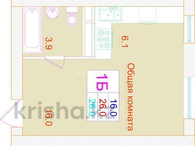 1-комнатная квартира, 26 м², 2/3 эт., Кургальжинское шоссе — Исатай батыра за ~ 3.8 млн ₸ в Нур-Султане (Астана), Есильский р-н — фото 2