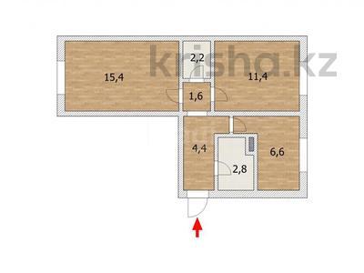 2-комнатная квартира, 48 м², 3/5 этаж, проспект Сакена Сейфуллина 17 за 12.8 млн 〒 в Нур-Султане (Астана), Сарыарка р-н — фото 6