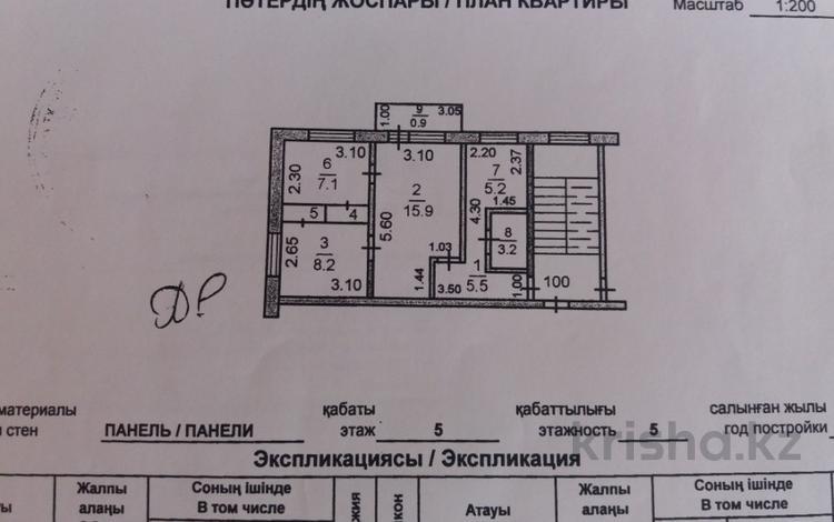 3-комнатная квартира, 47 м², 5/5 эт., 9 1 за 9.5 млн ₸ в Костанае