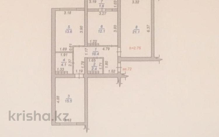 3-комнатная квартира, 83 м², 3/14 этаж, Абишева 36 за 26 млн 〒 в Алматы, Наурызбайский р-н