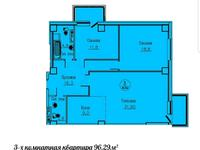 3-комнатная квартира, 96.7 м², 4/13 этаж