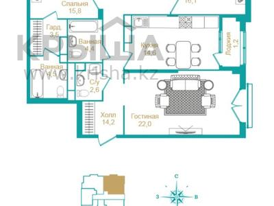 4-комнатная квартира, 113.8 м², 8/9 этаж, Шамши Калдаякова 5 за ~ 45 млн 〒 в Нур-Султане (Астана), Есильский р-н — фото 10