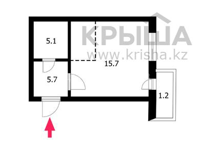 1-комнатная квартира, 32.9 м², 2/12 этаж, улица Ильяса Омарова 15 — улица Кайыма Мухамедханова за 11.8 млн 〒 в Нур-Султане (Астана), Есиль р-н — фото 13