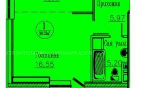 1-комнатная квартира, 37.6 м², 3/13 этаж, Кургальжинское шоссе 3/1 — Е435 за ~ 9.8 млн 〒 в Нур-Султане (Астана)