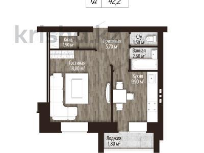 1-комнатная квартира, 42 м², Мкр Батыс 2 49Д за ~ 5.7 млн 〒 в Актобе — фото 4