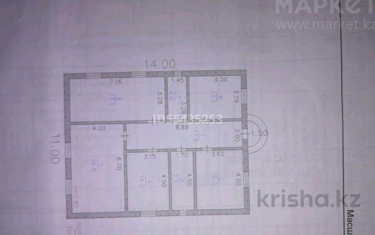 5-комнатный дом, 154 м², 10 сот., Хазар 5/47 — Қызыл төбе 2ге жакын за 7.5 млн 〒 в Батыре