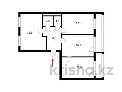 3-комнатная квартира, 75.9 м², 2/5 этаж, Суворова 14 — Конституции за 17 млн 〒 в Нур-Султане (Астана), Сарыарка р-н — фото 30