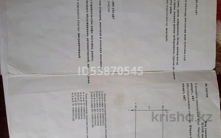 Участок 10 соток, Мкр Туран 192 кварт,687 за 8 млн 〒 в Шымкенте, Каратауский р-н