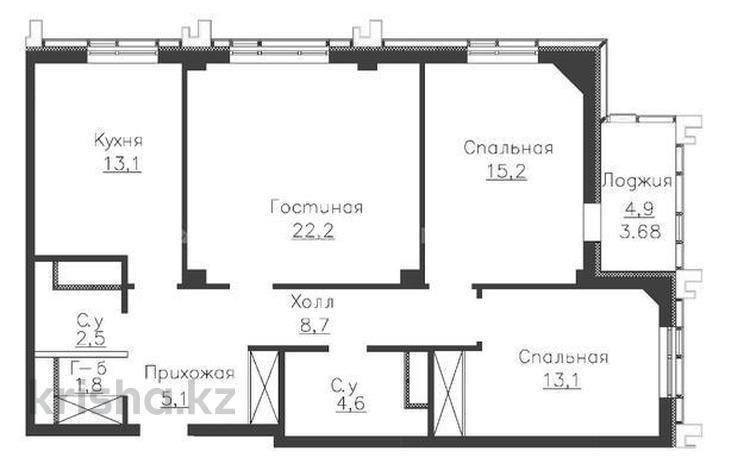 3-комнатная квартира, 90.25 м², 14/14 этаж, проспект Мангилик Ел за 32.5 млн 〒 в Нур-Султане (Астана), Есильский р-н