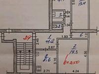 3-комнатная квартира, 70 м², 3/6 этаж