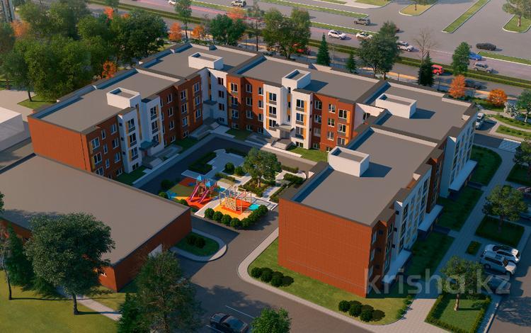 2-комнатная квартира, 52.22 м², 1/3 этаж, Коргальжинское шоссе 110 за ~ 10.4 млн 〒 в Нур-Султане (Астана), Есильский р-н
