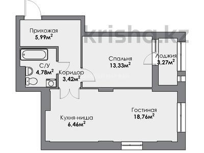 2-комнатная квартира, 55.19 м², 5/22 этаж, Мангилик Ел за ~ 19.7 млн 〒 в Нур-Султане (Астана), Есиль р-н — фото 8
