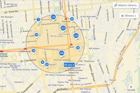 Новости: Новая функция поиска на «Крыше»: достаточно просто обвести область на карте