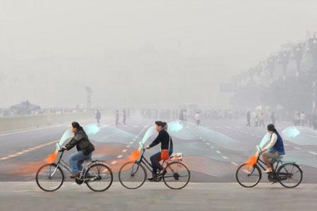 Новости: Антисмоговый велосипед создали вКитае