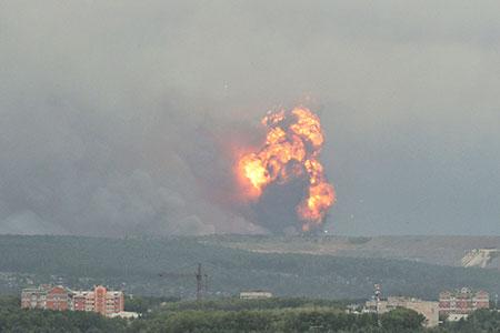 Новости: В Сибири взорвался склад с боеприпасами