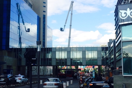 Новости: В столичном небоскрёбе случился пожар