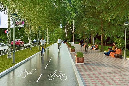 Новости: Бостандыкский район опутают велодорожками