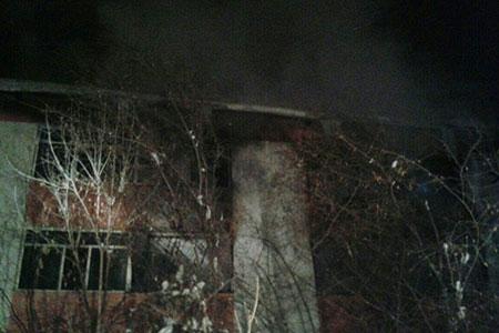 Новости: В Алматы горел детский дом