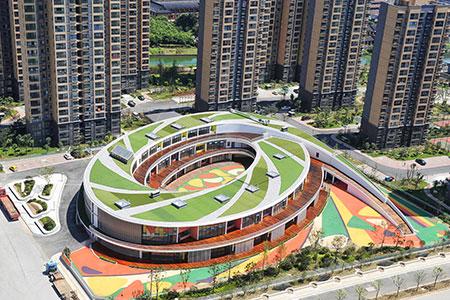 Новости: Детский сад в виде эллипса построили в Китае