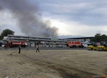 Новости: В Алматы ещё один рынок пострадал от огня