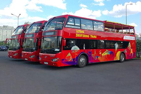 Новости: В Астане запустили экскурсионные автобусы