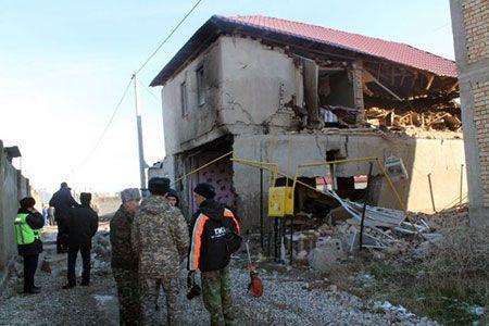 Новости: В Шымкенте рухнул двухэтажный дом