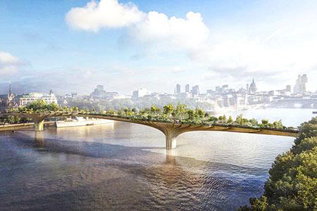 Новости: В Лондоне появится мост-сад примерно за$226млн