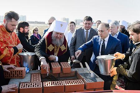 Новости: В Нур-Султане начали строить православный храм