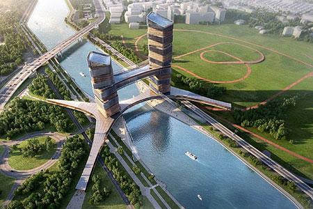 Новости: ВНур-Султане построят здание-мост состеклянным полом